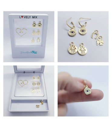 PACK LOVELY MIX PENDIENTES ORO